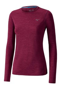 Koszulka MIZUNO Impulse Core LS Tee Lady red