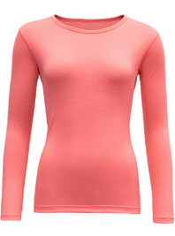 Koszulka Merino Wool DEVOLD Breeze Lady LS coral